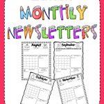 011 Newsletter Templates For Teachers Monthly Template Fresh   Free Printable Kindergarten Newsletter Templates