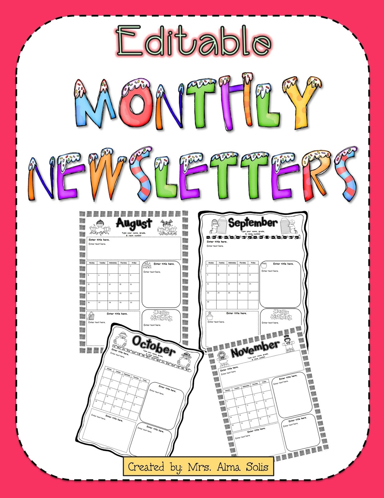 011 Newsletter Templates For Teachers Monthly Template Fresh - Free Printable Kindergarten Newsletter Templates