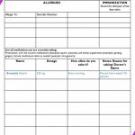 013 Medication List Form Blank Template Price Free Printable   Free Printable Wallet Medication List Template