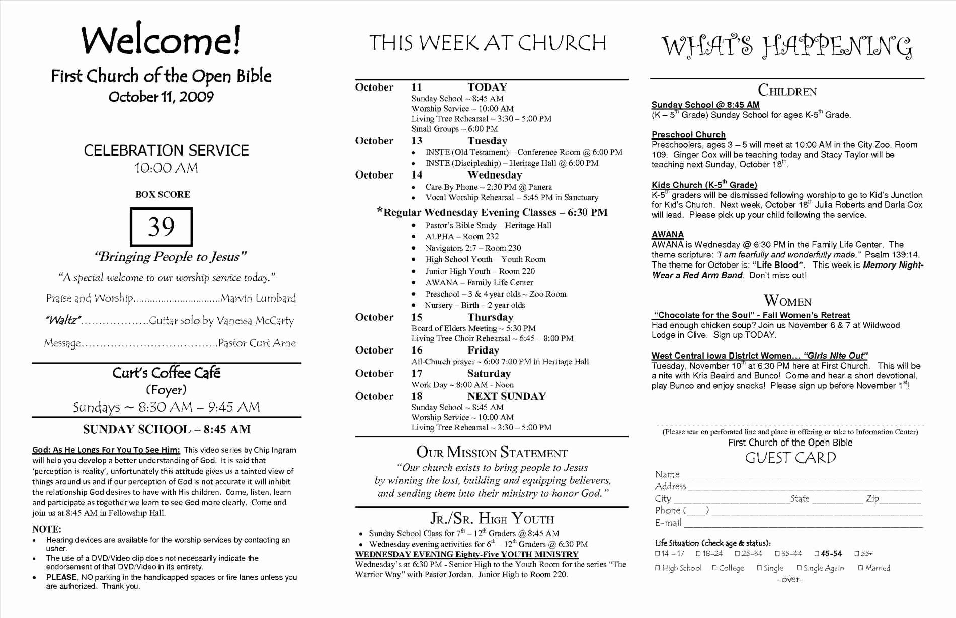 014 Church Program Templates Free Download Awesome Enchanting - Free Printable Church Program Templates