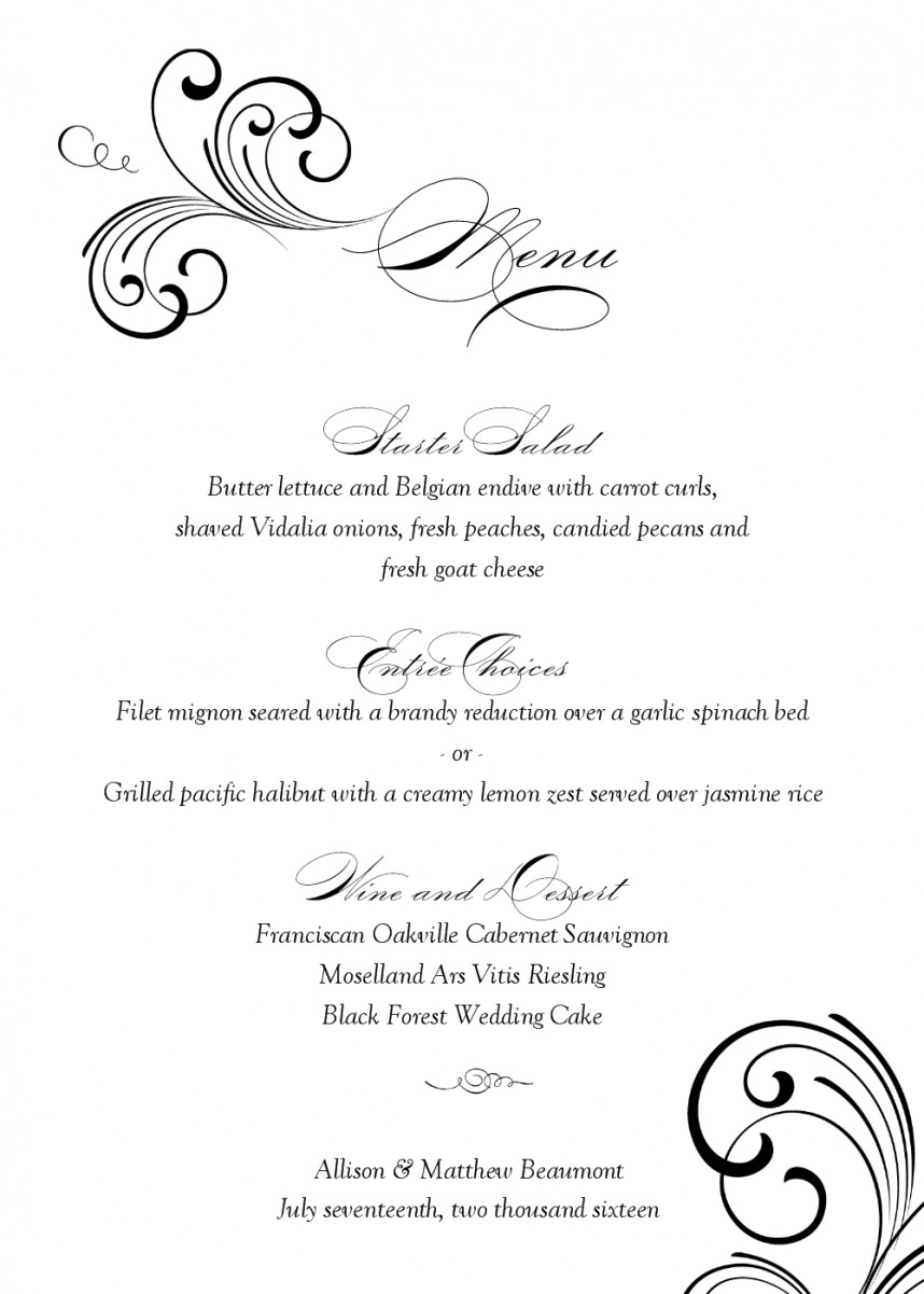 015 Free Printable Restaurant Menu Templates Best And Professional - Menu Template Free Printable Word