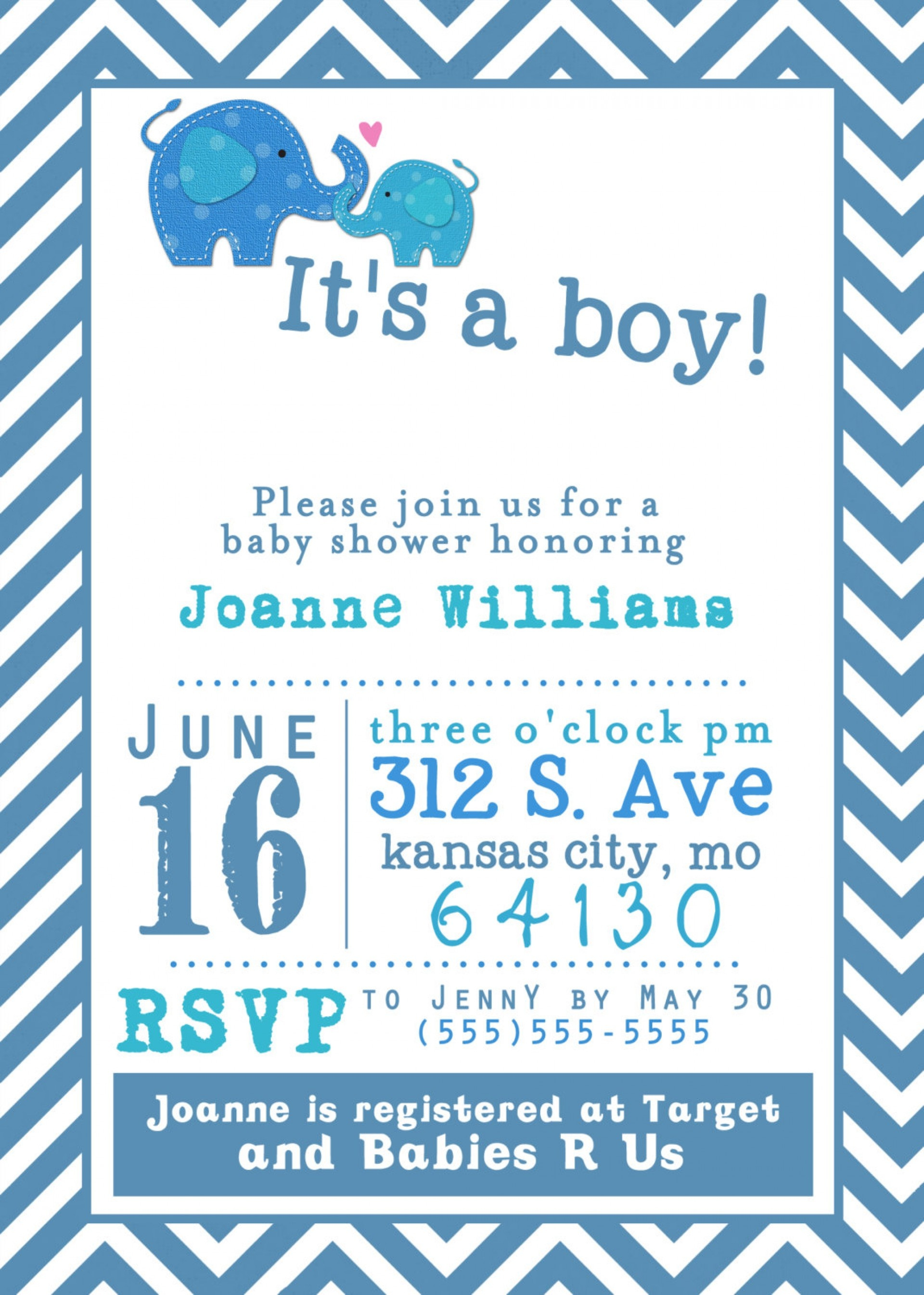 019 Baby Shower Invitation Free Templates Template Ideas Printable - Free Baby Boy Shower Invitations Printable