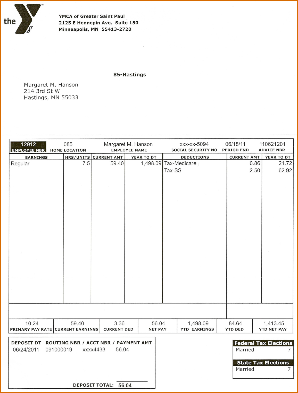 019 Template Ideas Pay Stub Free Paycheck Stubs Templates For To - Free Check Stub Template Printables