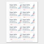 021 Baby Shower Raffle Tickets Template Choice Image Showers Ticket   Free Printable Diaper Raffle Tickets Elephant
