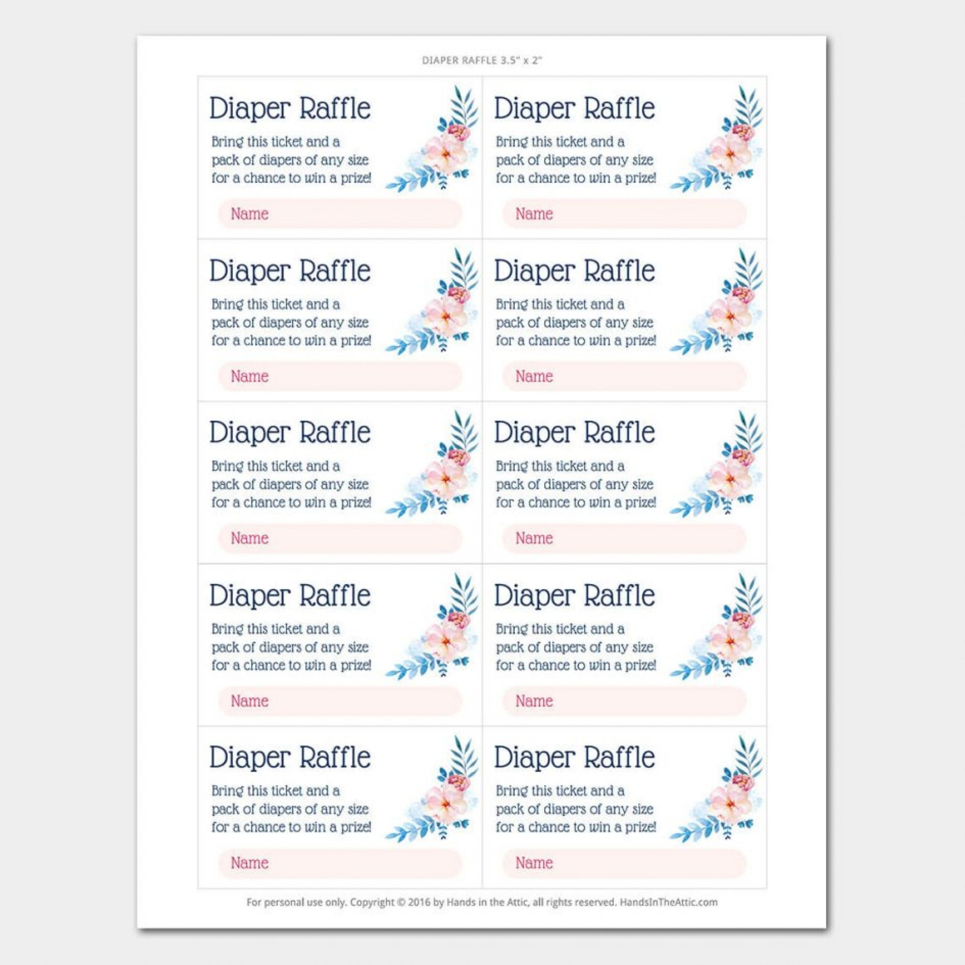 021 Baby Shower Raffle Tickets Template Choice Image Showers Ticket - Free Printable Diaper Raffle Tickets Elephant