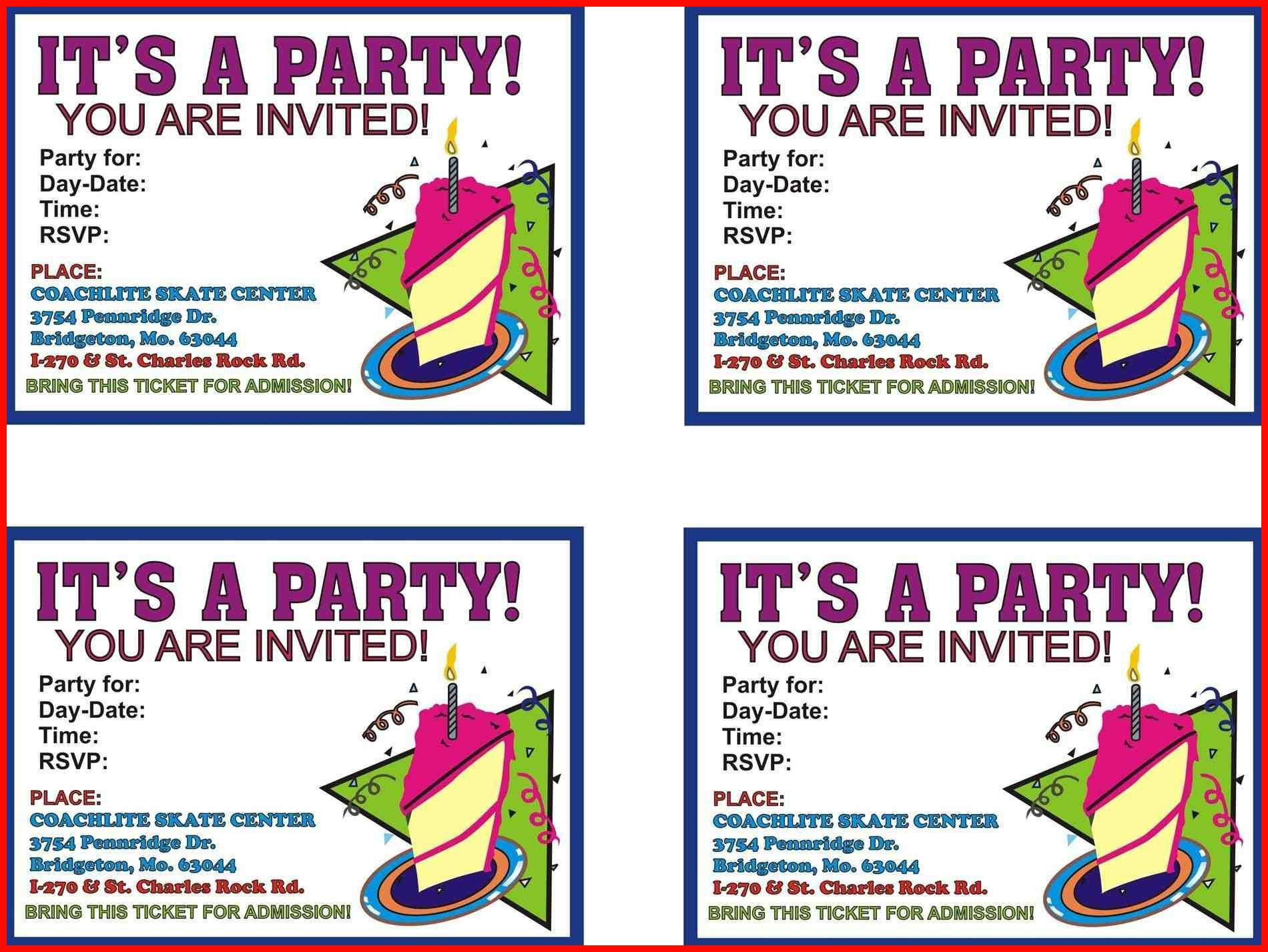 023 Free Bowling Party Invitation Templates Book Of Template Word - 13Th Birthday Party Invitations Printable Free