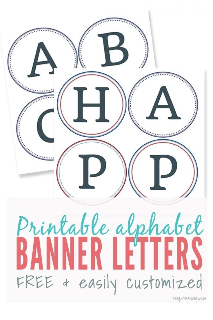 023 Free Printable Alphabet Letters Banner Template Ideas - Printable Banner Letters Template Free