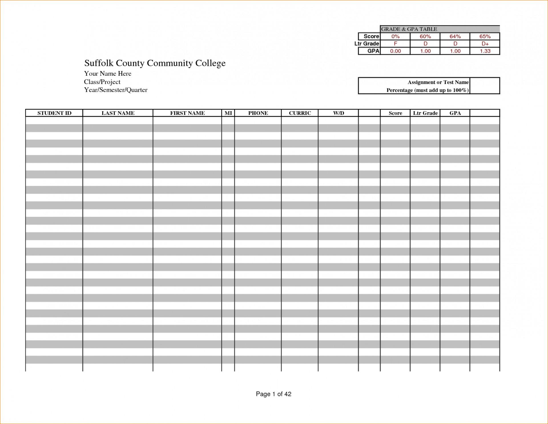 025 Teacher Grade Book Template Ideas Free Excel Gradebook 3605 - Free Printable Gradebook