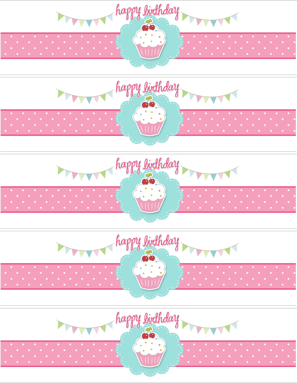 026 Birthday Water Bottle Label Template Free Wondrous Ideas - Free Printable Birthday Tag Templates