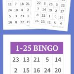 1 25 Bingo | Diy | Alphabet Bingo, Bingo Cards, Bingo   Free Printable Number Bingo Cards 1 20