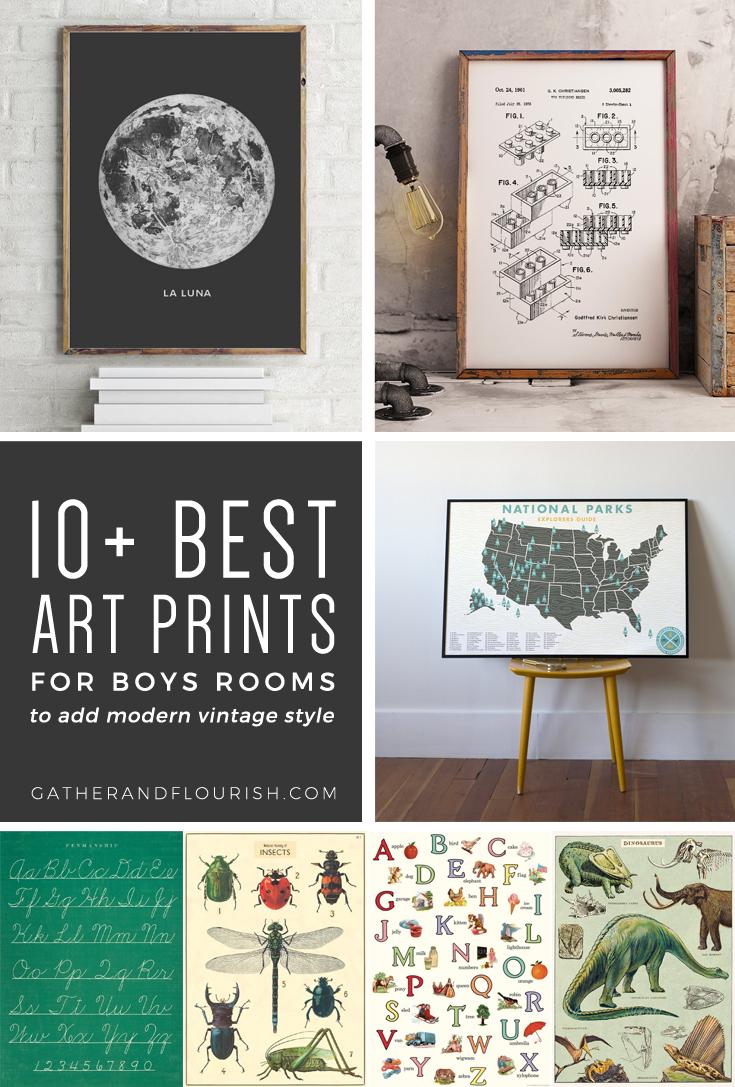 10+ Art Prints For Boys Rooms (Plus Free Printable!)   Orc Week 4 - Free Printable Art