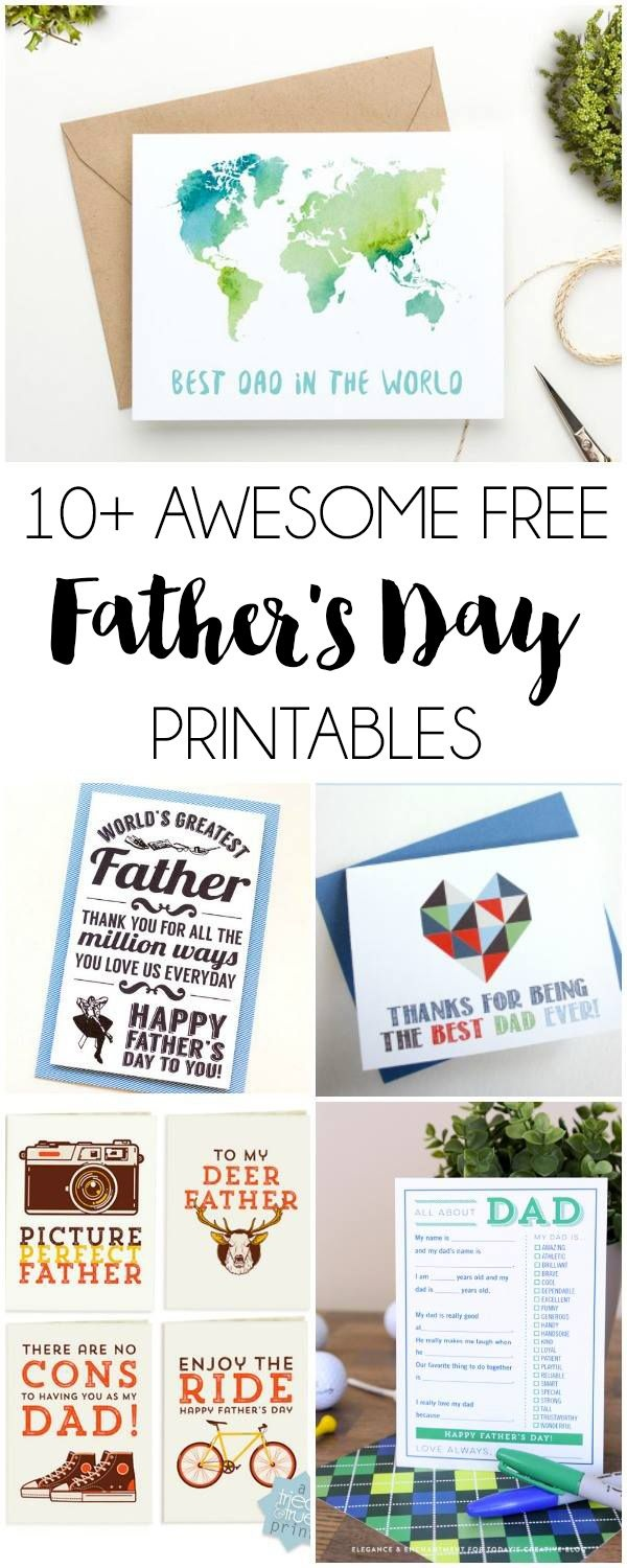 10+ Free Father's Day Printables | Dawn Nicole Designs | Fathers Day - Free Father's Day Printables