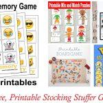 10 Free, Last Minute Printable Stocking Stuffer Games   Free Printable Stocking Stuffers