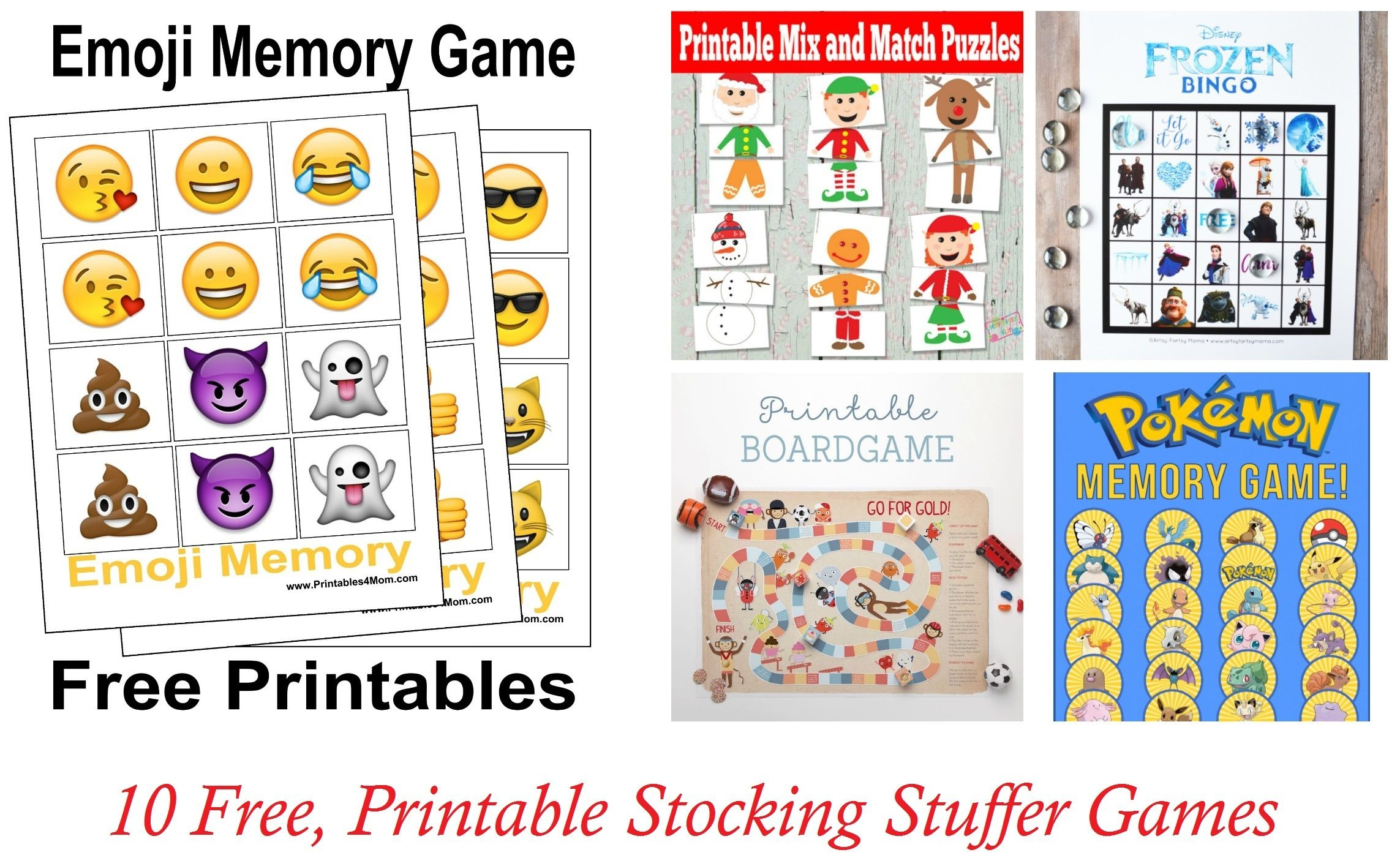10 Free, Last Minute Printable Stocking Stuffer Games - Free Printable Stocking Stuffers