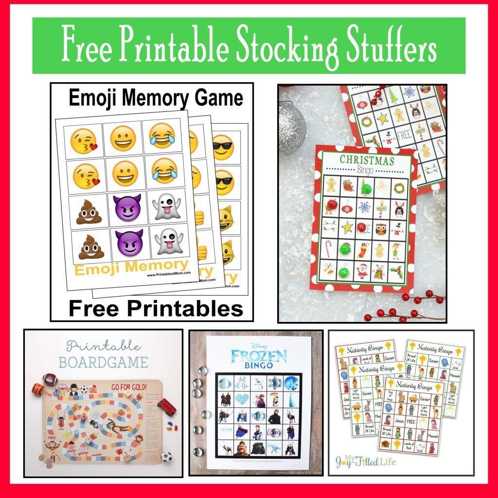 10 Free, Last Minute Printable Stocking Stuffer Games | Xmas Time - Free Printable Stocking Stuffers