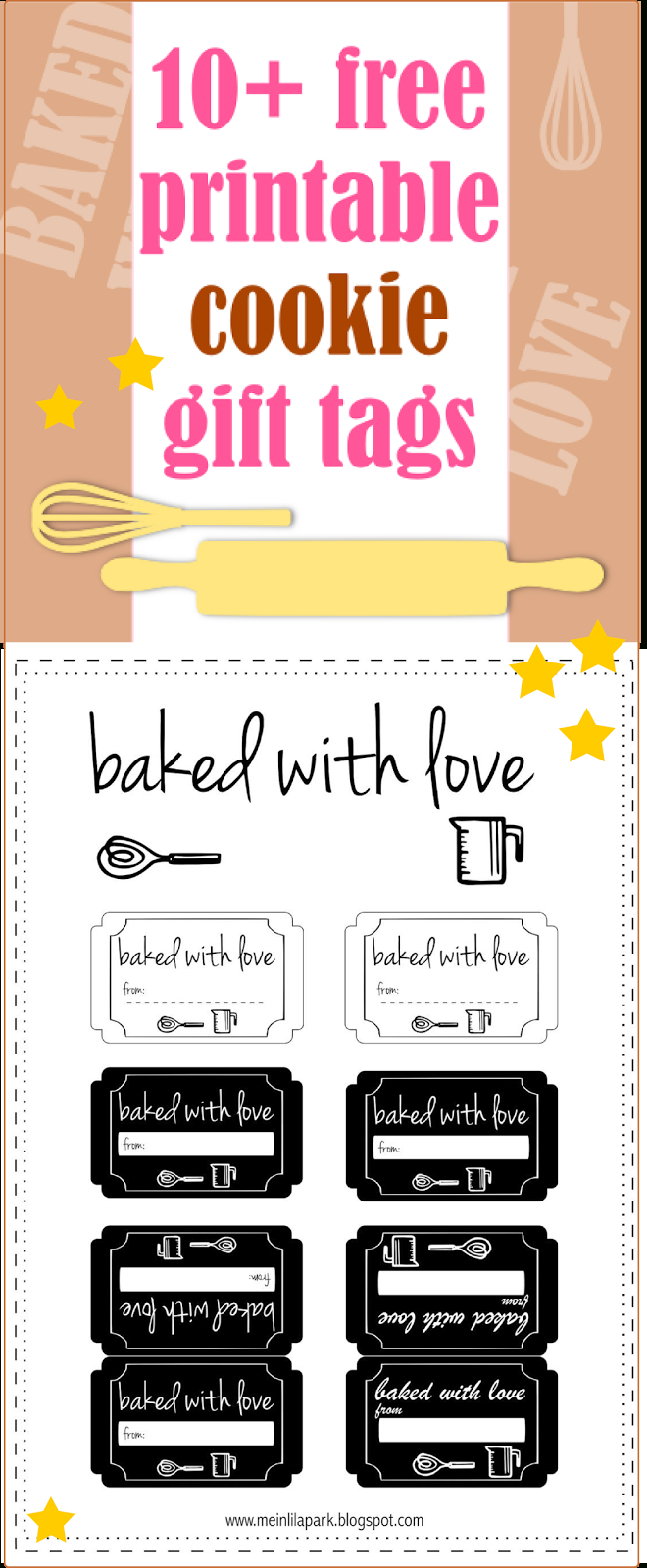 10+ Free Printable Cookie Gift Tags - Round-Up | Printables & Fonts - Free Printable Baking Labels