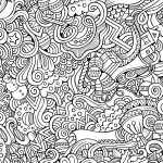 10 Free Printable Holiday Adult Coloring Pages | Coloring Pages   Free Printable Doodle Patterns