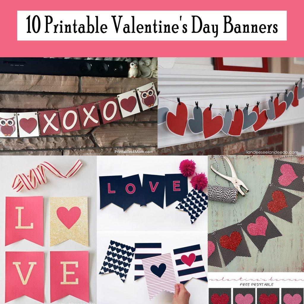 10 Free Printable Valentine's Day Banners - Printables 4 Mom - Free Printable God Bless Banner