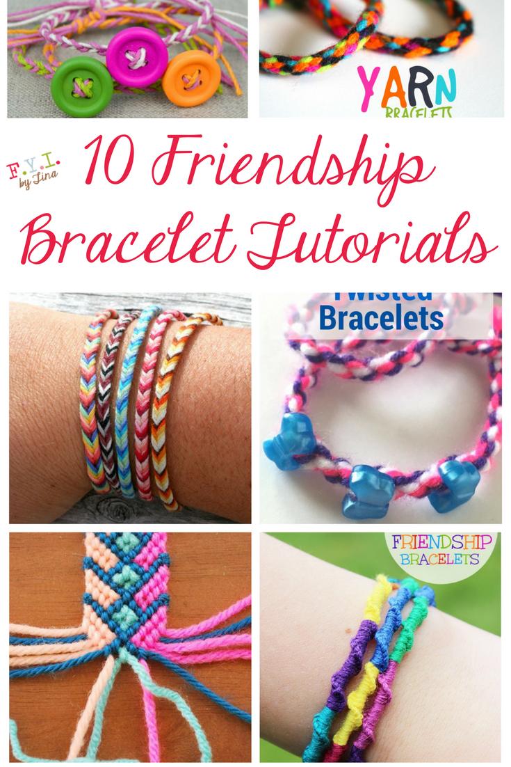 10 Friendship Bracelet Tutorials • Fyitina   Diy & Crafts - Free Printable Friendship Bracelet Patterns