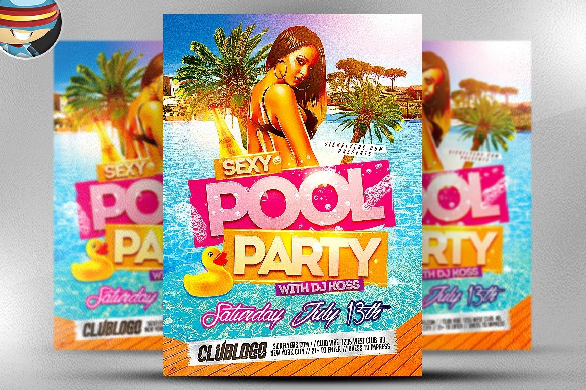 10+ Pool Party Flyer Designs | Design Trends - Premium Psd, Vector - Pool Party Flyers Free Printable