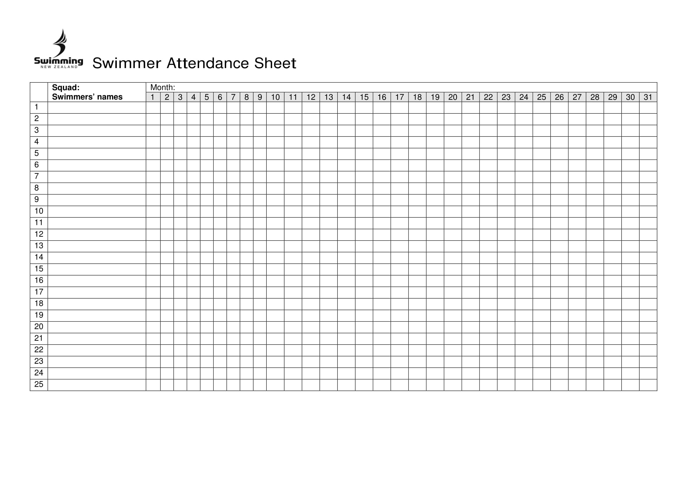 10+ Printable Attendance Sheet Examples - Pdf, Word | Examples - Free Printable Attendance Sheet