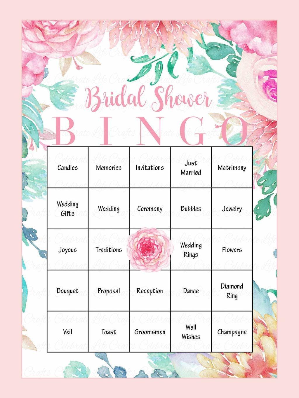 10 Printable Bridal Shower Games You Can Diy | Wedding Ideas - Free Printable Bridal Shower Blank Bingo Games