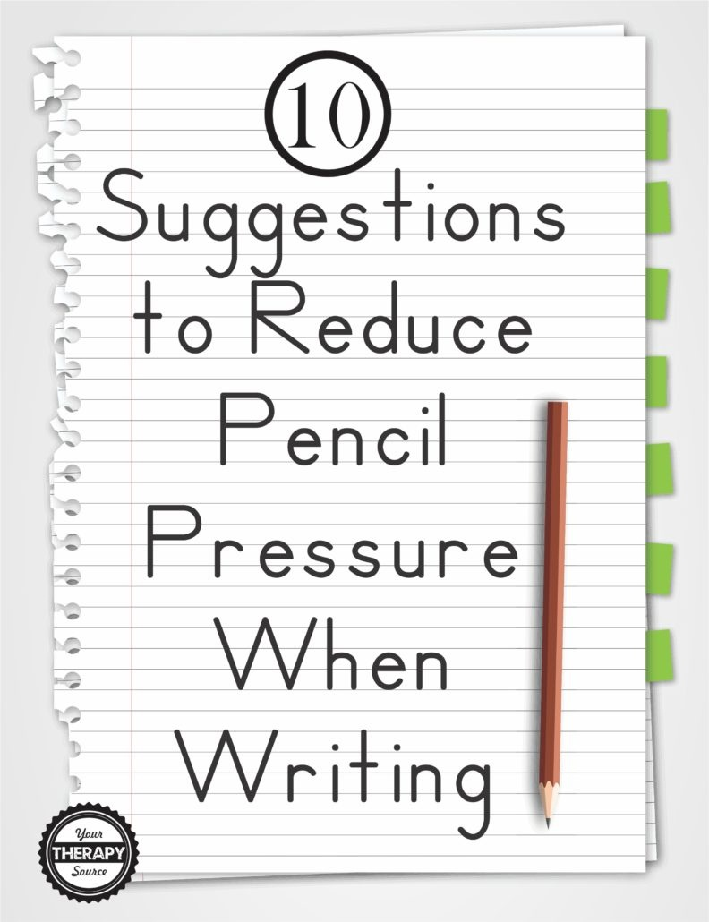 10 Suggestions To Reduce Pencil Pressure When Writing - Your Therapy - Handwriting Without Tears Worksheets Free Printable