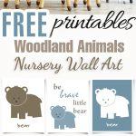 100+ Best Free Nursery Printables And Wall Art   Craft Mart   Free Printable Woodland Animal Templates