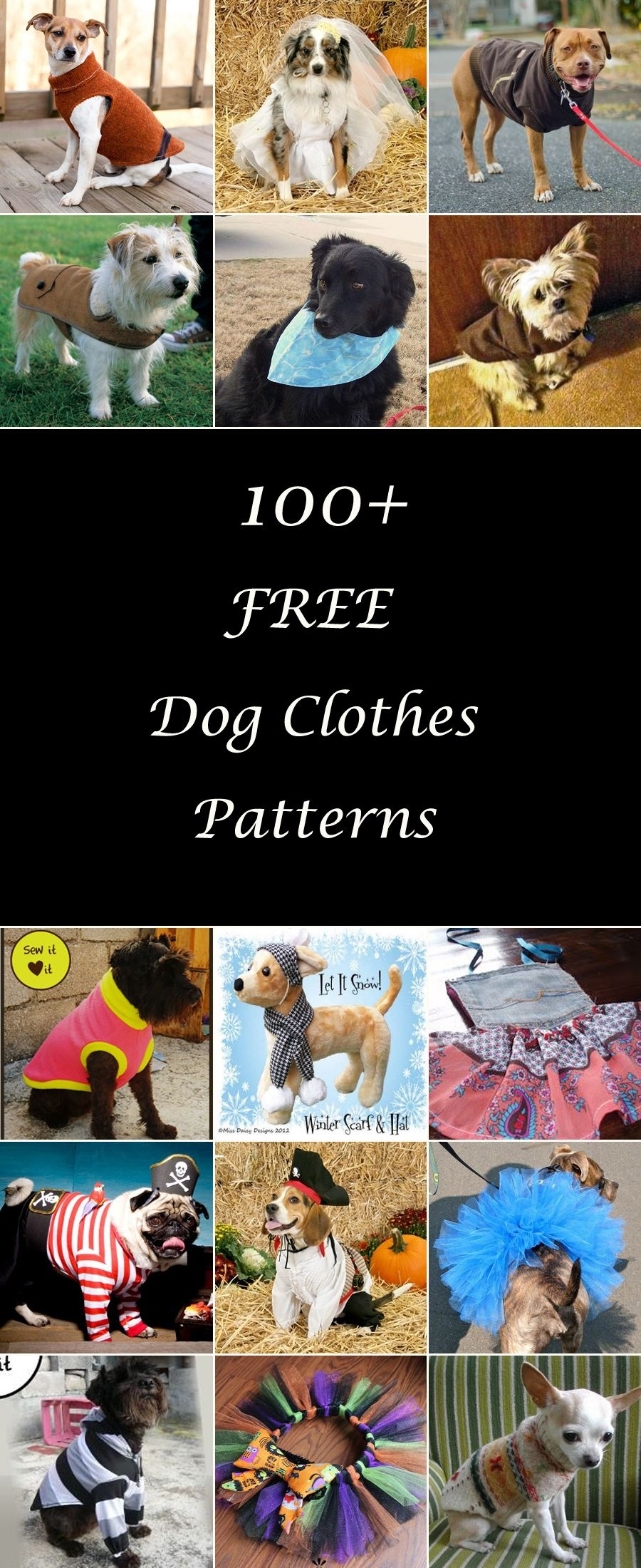 100+ Free Dog Clothes Patterns   Adorable Animals   Dog Clothes - Free Printable Sewing Patterns For Dog Clothes