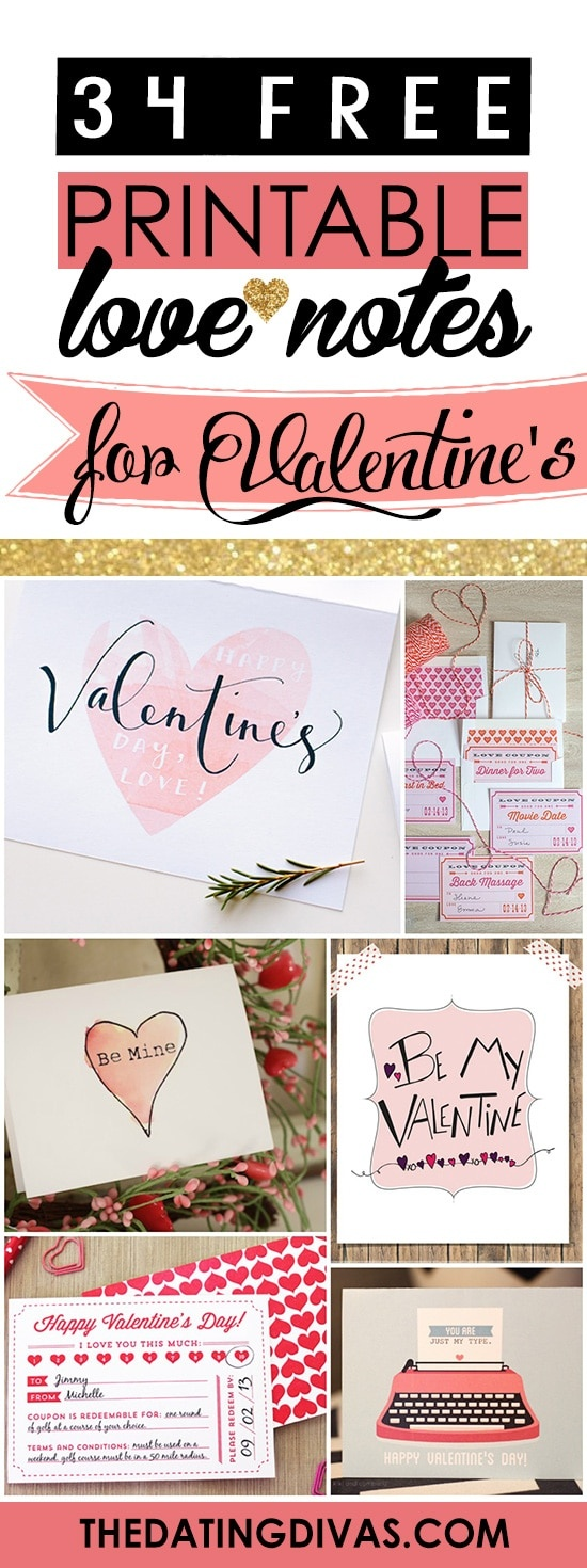 100+ Free Printable Love Notes For Him - The Dating Divas - Free Printable Love Cards