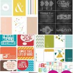 100+ Free Printable Project Life Journaling Card Insert Sets   Free Printable Scrapbook Stuff