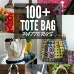 100+ Free Tote Bag Patterns | Round Up   The Sewing Loft   Handbag Patterns Free Printable