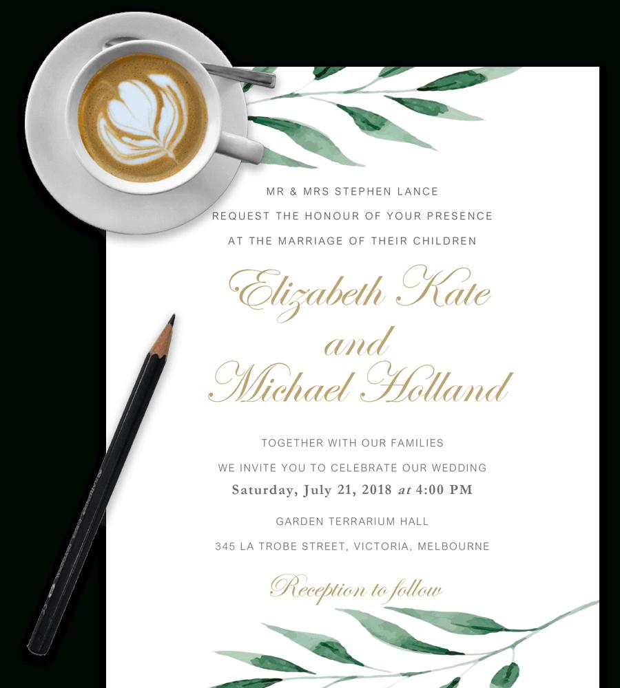 100% Free Wedding Invitation Templates In Word [Download & Customize] - Free Printable Wedding Invitation Templates