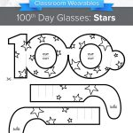 100Th Day Of School Glasses: Stars   Wearables | Classcrown   100Th Day Of School Printable Glasses Free