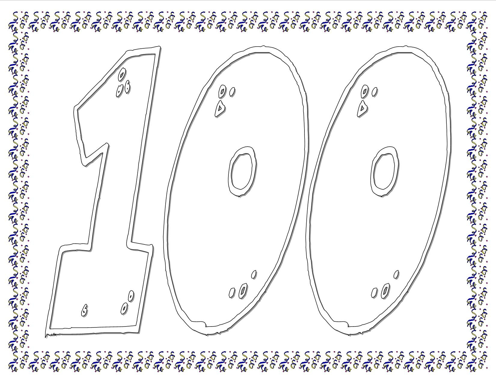 100Th Day Of School Worksheets And Printouts - 100 Days Of School Free Printables