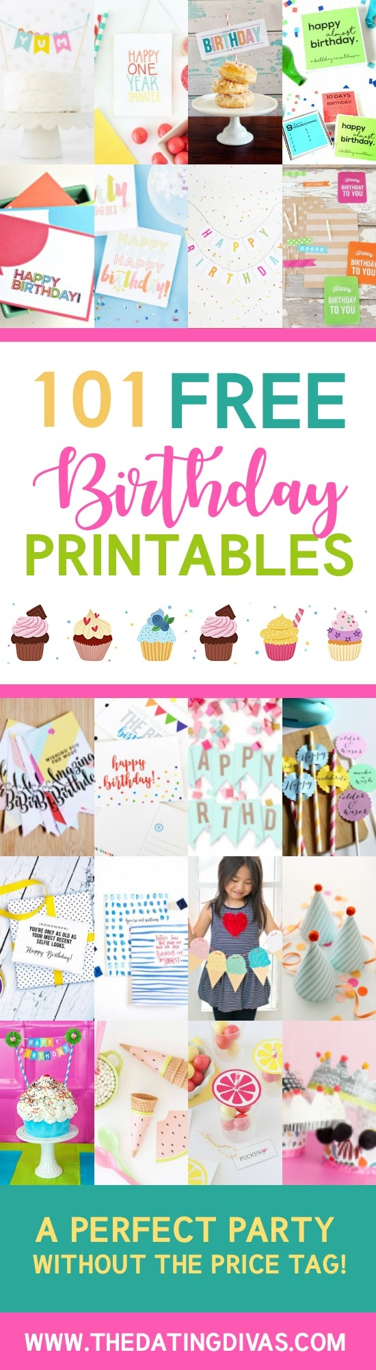 101 Free Birthday Printables - The Dating Divas - Free Birthday Printables