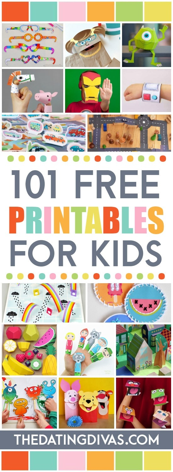 101 Free Printables For Kids - From The Dating Divas - Free Printables For Kids