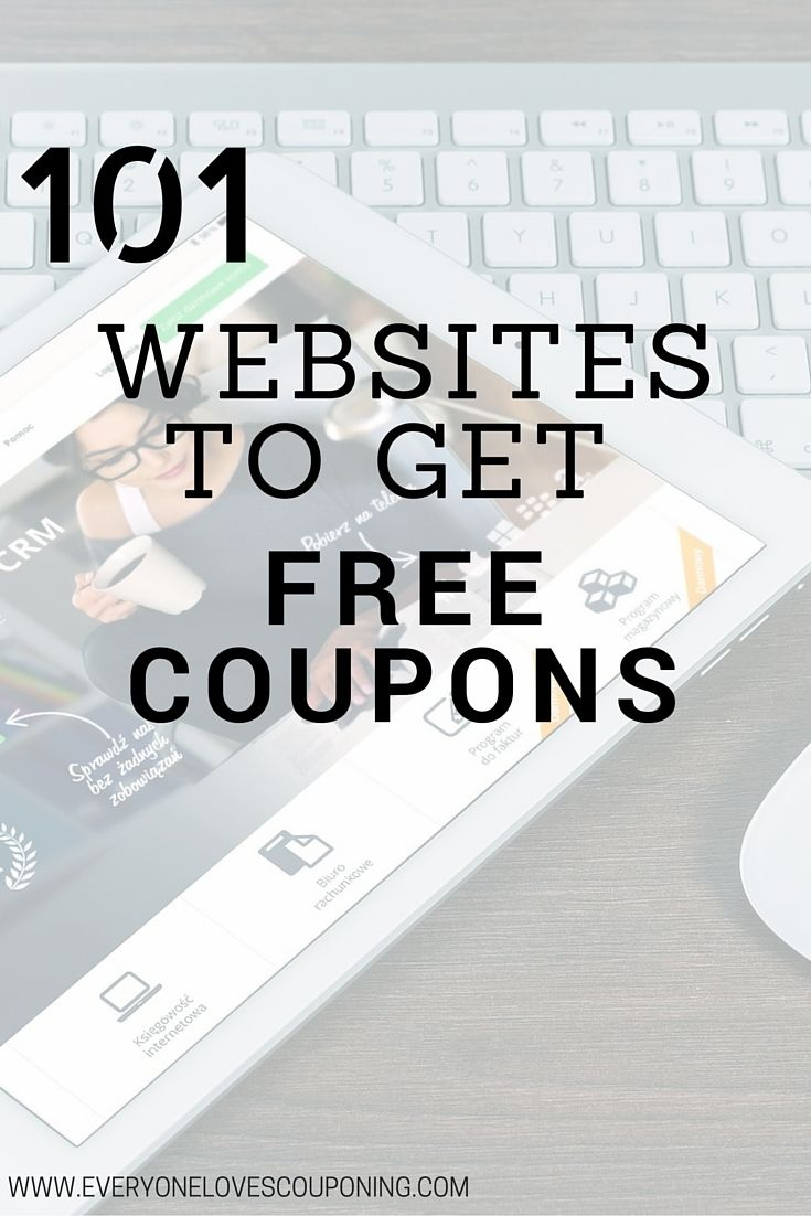 101 Websites To Get Free Coupons! | Coupons | Couponing 101, Free - Free Printable Coupon Websites
