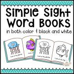 104 Simple Sight Word Books In Color & B/w   The Measured Mom   Free Printable Phonics Books For Kindergarten