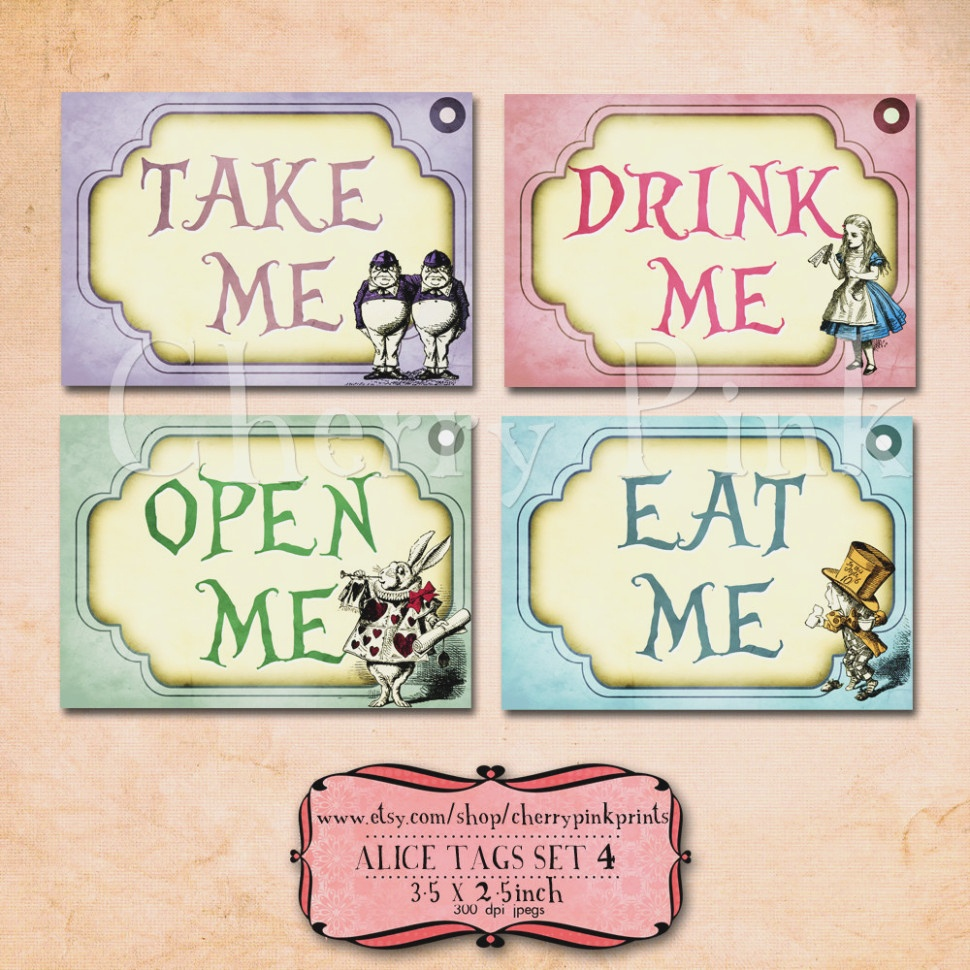 11 Images Of Alice Eat Me Label Template | Netpei – Label Maker Ideas - Free Printable Alice In Wonderland Eat Me Tags