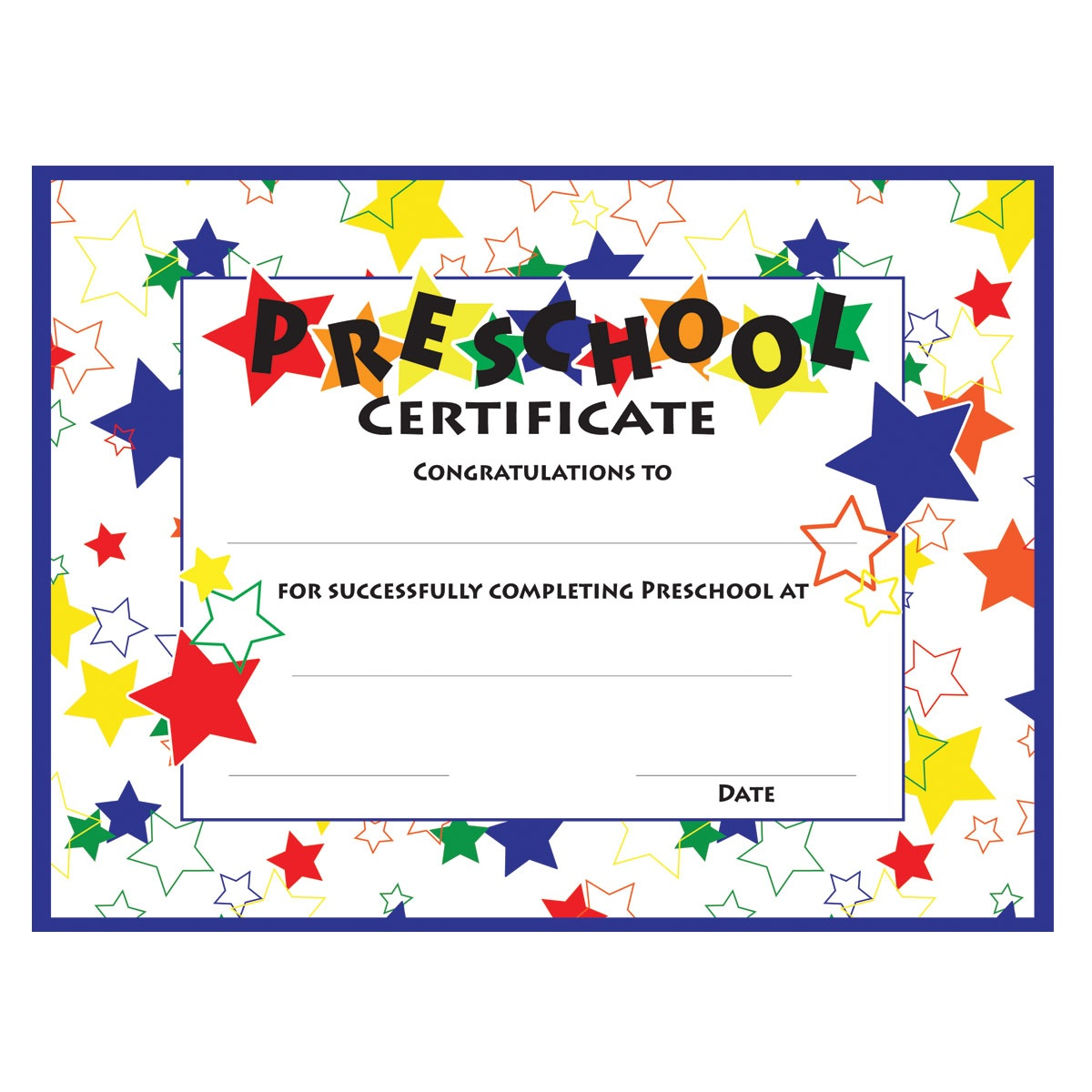 11+ Preschool Certificate Templates - Pdf | Free & Premium Templates - Free Printable Preschool Diplomas