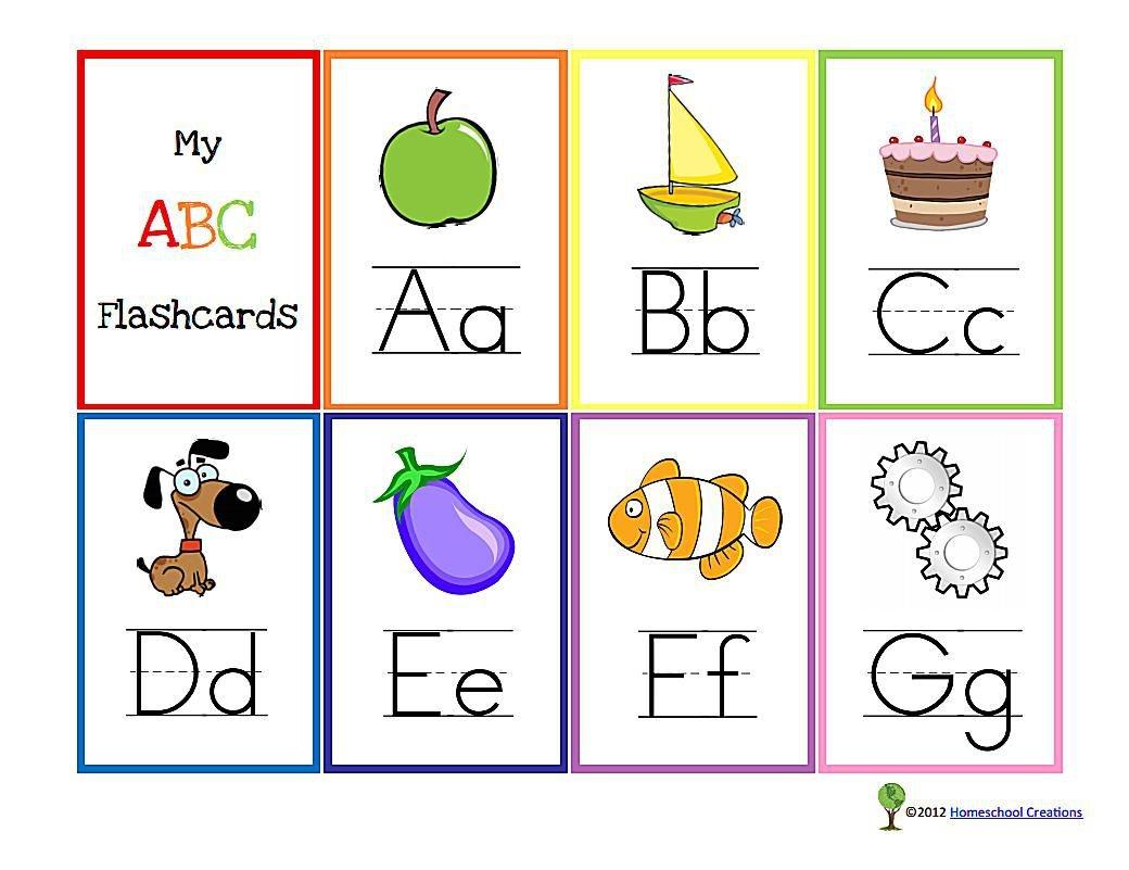 11 Sets Of Free, Printable Alphabet Flashcards - Abc Flash Cards Free Printable