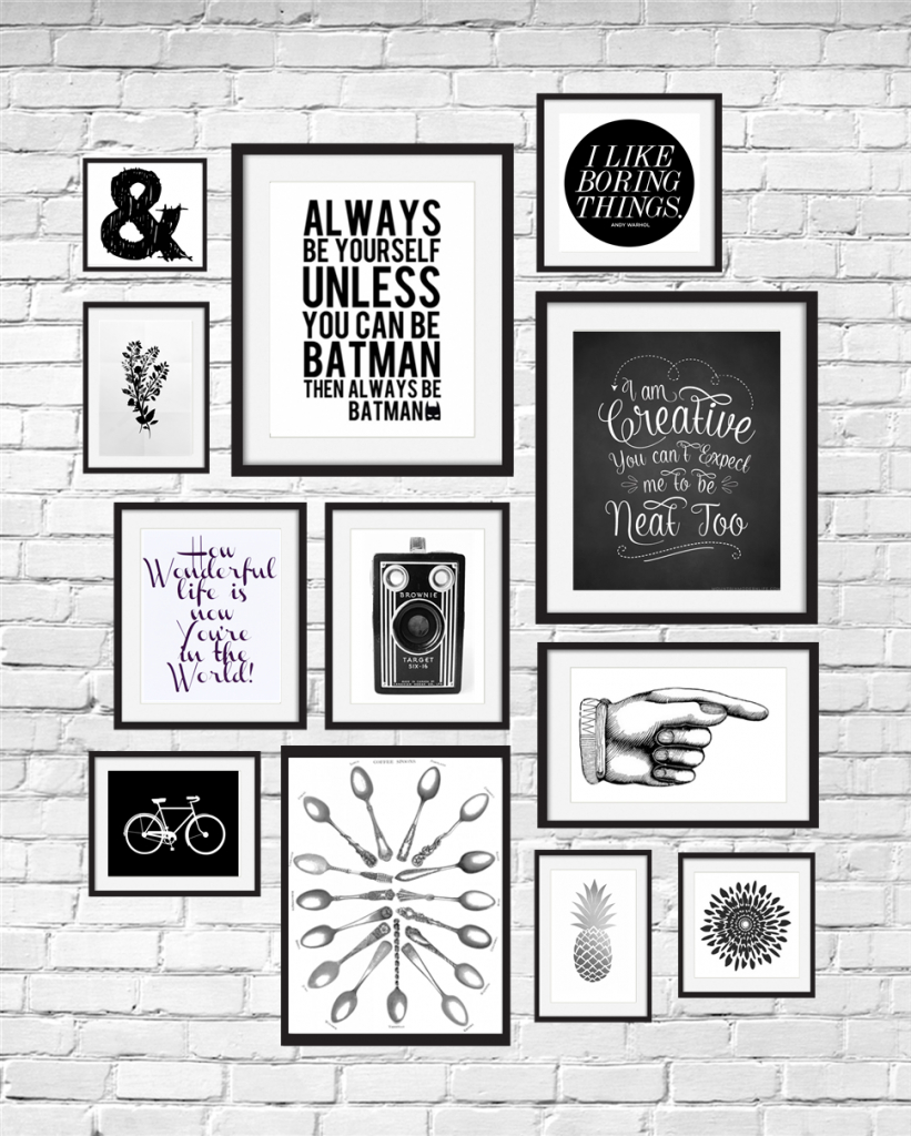 12 Awesome Black & White Printables- Free! | Calm And Collected-The Blog - Free Black And White Printables