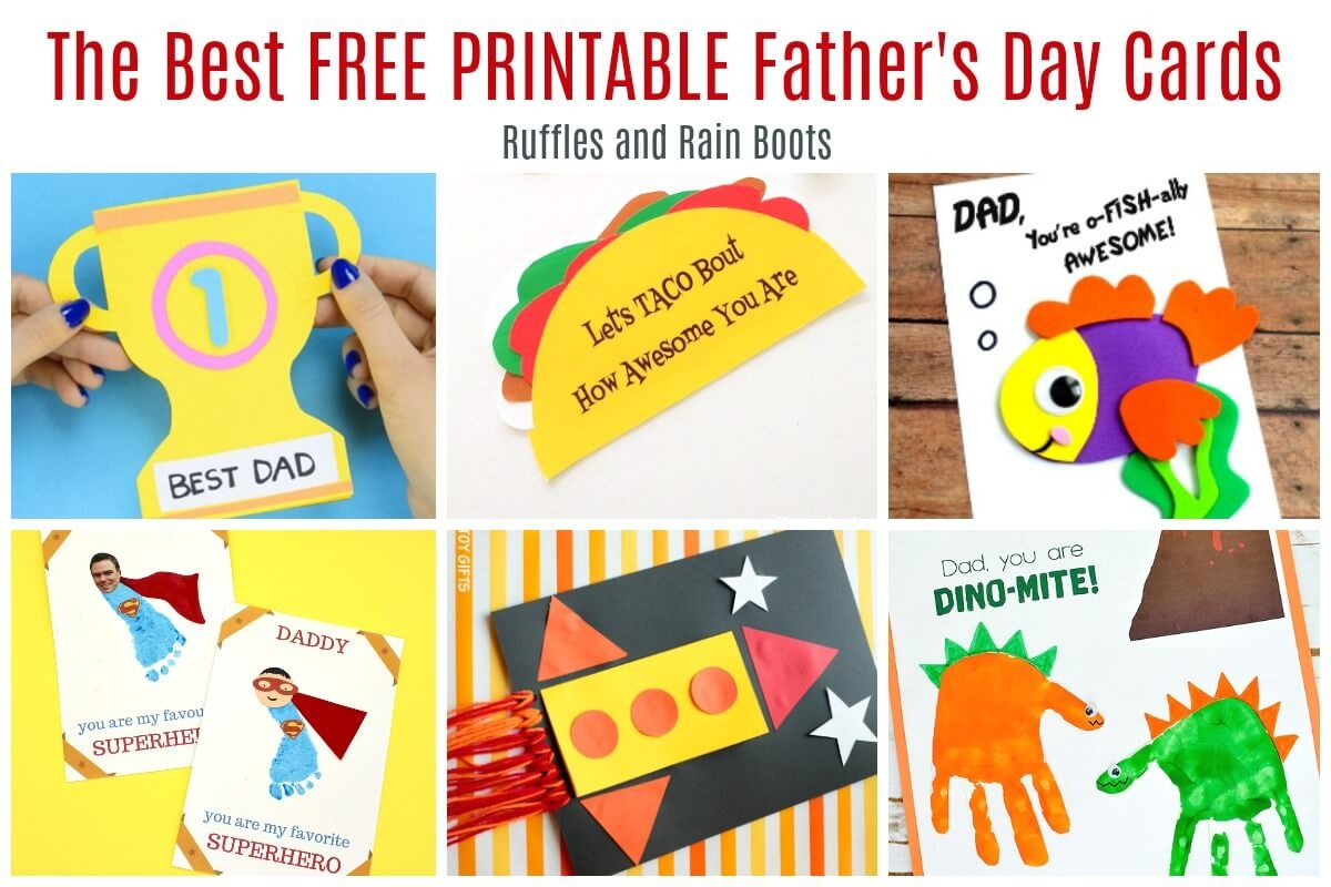 12 Free Printable Father's Day Cards - Father's Day Card Printable Free