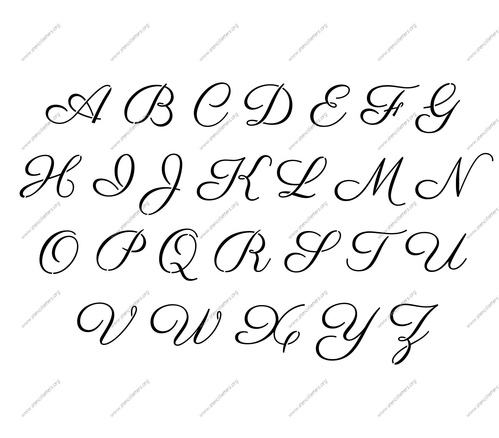 12 Free Printable Fonts Templates Images - Free Printable Letter - Free Printable Letter Stencils