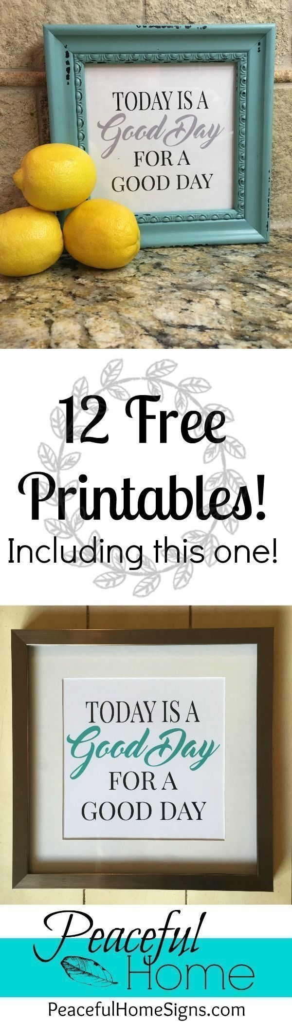 12 Free Printables To Spruce Up Your Decor!   Free Printable With - Free Printables For Home Decor
