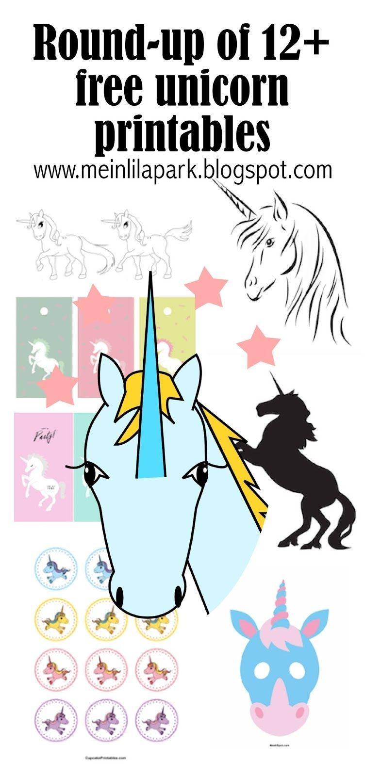 12+ Free Unicorn Printables - Einhorn - Round-Up | Printables - Free Printable Unicorn Face Template