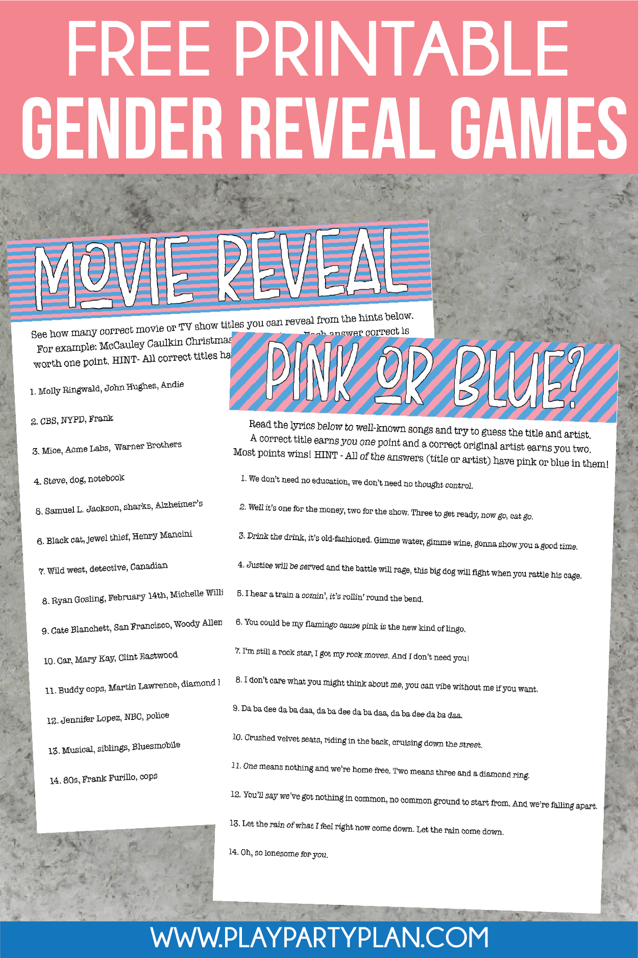 12 Of The Best Gender Reveal Party Games Ever - Play Party Plan - Free Printable Gender Reveal Games