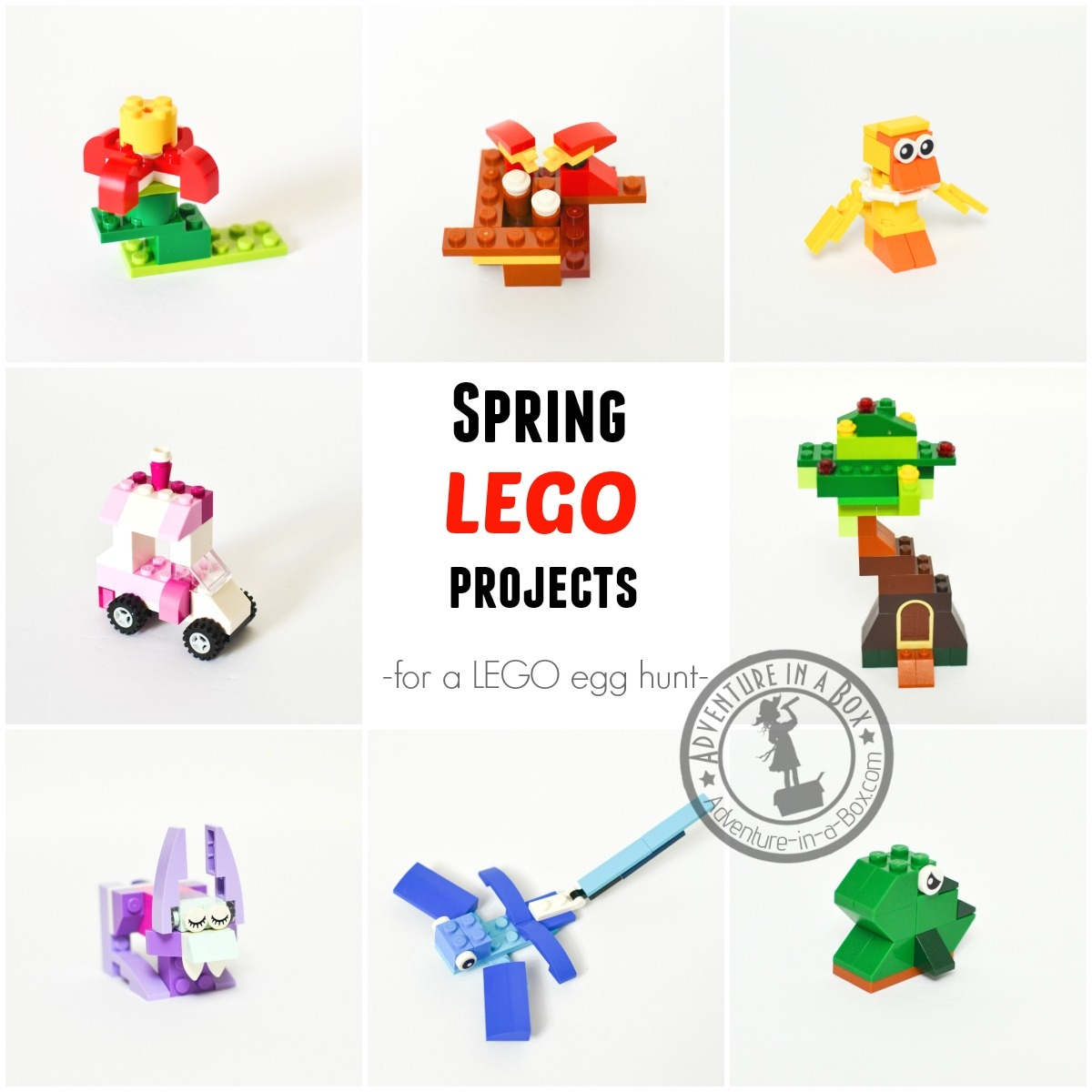 12 Spring Lego Projects For Easter Egg Hunt Or Basket | Adventure In - Free Printable Lego Instructions