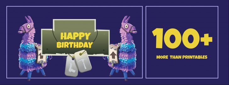 Free Fortnite Party Printables